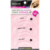 Absolute New York - Øjne - Eyebrow Stencil Kit