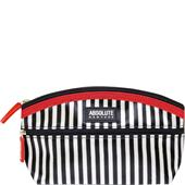 Absolute New York - Kosmetiktasker - Mono Stripe Satin Cosmetic Bag