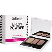 Andmetics - Augenbrauen - Brow Powder Trio