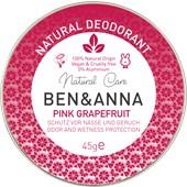 BEN&ANNA - Deodorant cream - Natural Deodorant Creme Pink Grapefruit