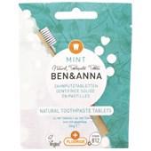 BEN&ANNA - Zahntabletten - Natürliche Zahnputz Tabletten Mint ohne Fluoride