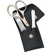 "ERBE - Manicure sets - ""Carbon"" 3-Piece Pouch Case"
