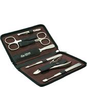 ERBE - Manicure sets - Water buffalo and Russia leather case, 7-part