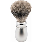 "Becker Manicure - Shaving brushes - ""Silver Tip"" Shaving Brush, White Matte Plastic Handle"