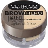 Catrice - Produtos para as sobrancelhas - Brow Hero 2 In 1 Brow Pomade & Camouflage Waterproof
