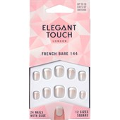 Elegant Touch - Kunstnägel - Natural French 144 Bare Extra Short
