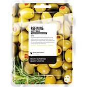 Farmskin - Maskers - Superfood For Skin Refining Sheet Mask Olive