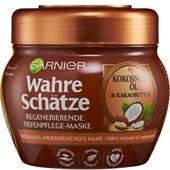 GARNIER - Wahre Schätze - Kokosnussöl & Kakaobutter Regenerierende Tiefenpflege-Maske