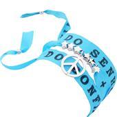 Gab & Ty by Jana Ina - Braceletes - Bracelete portafortuna Bonfim para enrolar com símbolo da paz, banhada a prata