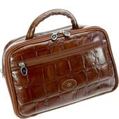 Hans Kniebes - Coccodrillo - Beauty-bag, buffel-kalfsleder croco-reliëf 300 x 190 x 125 mm