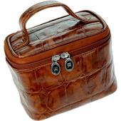 Hans Kniebes - Coccodrillo - Makeup koffertje, buffel-kalfsleder croco-reliëf 165 x 100 x 126 mm