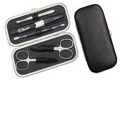 Hans Kniebes - Manicure-Etuis - 5-Piece Stainless Genuine Russian Leather Manicure Case