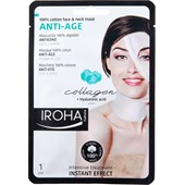 Iroha - Gezichtsverzorging - Anti Aging 100 % Cotton Face & Neck Mask