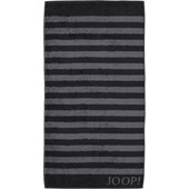 JOOP! - Classic Stripes - Black bath towel