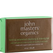 John Masters Organics - Reinigung - Birch & Cedarwood Cleansing & Shaving Bar