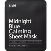Klairs - Máscaras - Midnight Blue Calming Sheet Mask