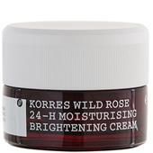 Korres - Hydration - Wild Rose 24-h Moisturising Brightening Cream für ölige bis Mischhaut