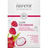 Lavera - Masken - Bio-Drachenfrucht & Bio-Himbeere Glow Tuchmaske