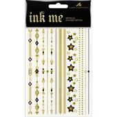 Manhattan - # Dare To Ink - Ink Me Metallic Sticker Tattoos