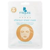 Miqura - Kolekcja Golden Silk - Aftersun Sheet Mask White