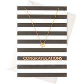 "Orelia - Gift Cards - ""Congratulations"" Card with a Ring Necklace"