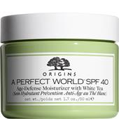 Origins - Soin hydratant - A Perfect World Age-Defense Moisturizer with White Tea SPF 40