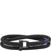 Pig & Hen - Nautische Armbänder - Black | Black Salty Slim