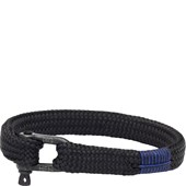 Pig & Hen - Rope Bracelets - Black | Black Sharp Simon
