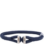 Pig & Hen - Rope Bracelets - Navy | Silver Icy Ike