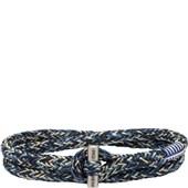 Pig & Hen - Nautische Armbänder - Navy-Ivory-Violet Blue | Silver Tiny Tiny