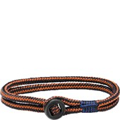 Pig & Hen - Rope Bracelets - Navy-Maple Orange | Black Don Dino
