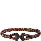Pig & Hen - Nautische Armbänder - Navy-Maple Orange | Black Icy Ike