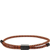 Pig & Hen - Nautische Armbänder - Navy-Maple Orange | Black Little Lewis