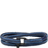 Pig & Hen - Rope Bracelets - Violet Blue-Slate Grey | Black Salty Slim