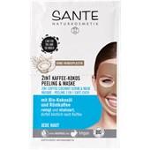 Sante Naturkosmetik - Gesichtspflege - 2 in 1 Kaffee-Kokos Peeling & Maske