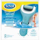 Scholl - Odstraňování zrohovatělé kůže - Velvet Smooth Wet & Dry Akumulátorový odstraňovač zrohovatělé kůže