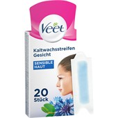 Veet - Warm- & Kaltwachs - Obličej Precizní studené voskové proužky na citlivou pleť