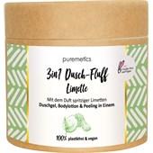puremetics - Peeling & Masken - Salzpeeling Limette No10 3in1 Dusch-Fluff