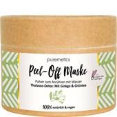 puremetics - Peeling & Masken - Thalasso-Detox: Mit Ginkgo & Grüntee Peel-Off Gesichtsmasken