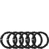 slip - Hair Care - Pack of 6 Pure Silk Skinny Hair Scrunchies Black
