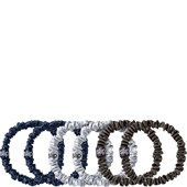 slip - Hair Care - Pack of 6 Pure Silk Skinny Hair Scrunchies Midnight