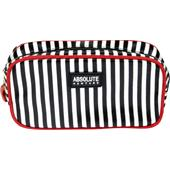 Absolute New York - Kosmetiikkalaukut - Mono Stripe Satin Cosmetic Bag