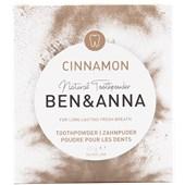 BEN&ANNA - Toothpaste in a glass - Toothpowder Cinnamon