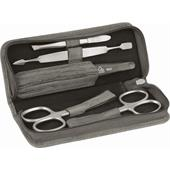 ERBE - Manicure sets - INOX Bamboo manicure case, 5-piece, with zipper