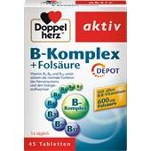 Doppelherz - Mineralstoffe & Vitamine - B-Komplex + Folsäure Tabletten