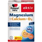 Doppelherz - Mineralstoffe & Vitamine - Magnesium + Calcium + D3 Tabletten