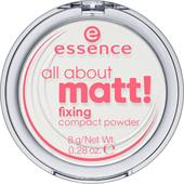 Essence - Poudre et rouge à lèvres - All About Matt! Fixing Compact Powder