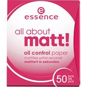 Essence - Puuteri ja poskipuna - All About Matt Oil Control Paper