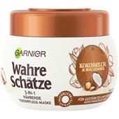 GARNIER - Wahre Schätze - Kokosmilch & Macadamia 3-in-1 Nährende Tiefenpflege-Maske