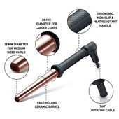 Golden Curl - Lockenstäbe - The Rose Gold 18 - 25 mm Curler